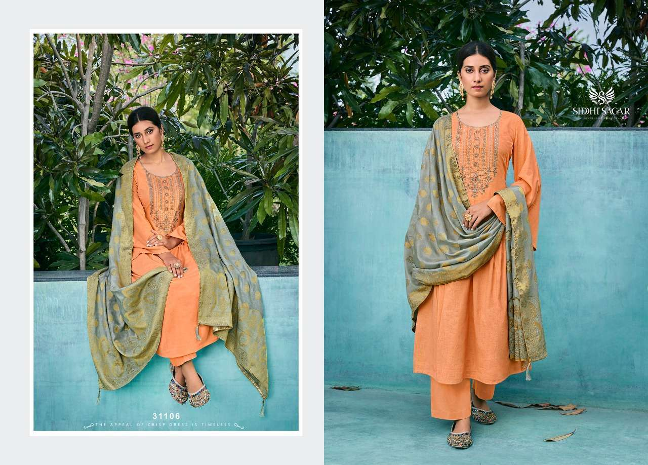Siddhi Sagar Niramya Pure Cotton With Fancy Embroidery Work Dress Material Collection 02