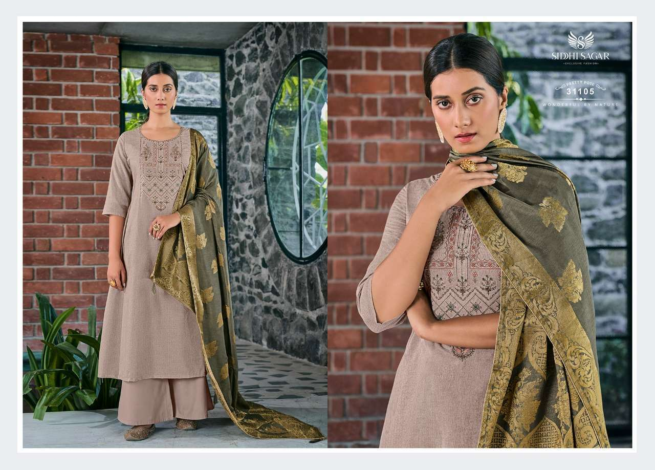 Siddhi Sagar Niramya Pure Cotton With Fancy Embroidery Work Dress Material Collection 05