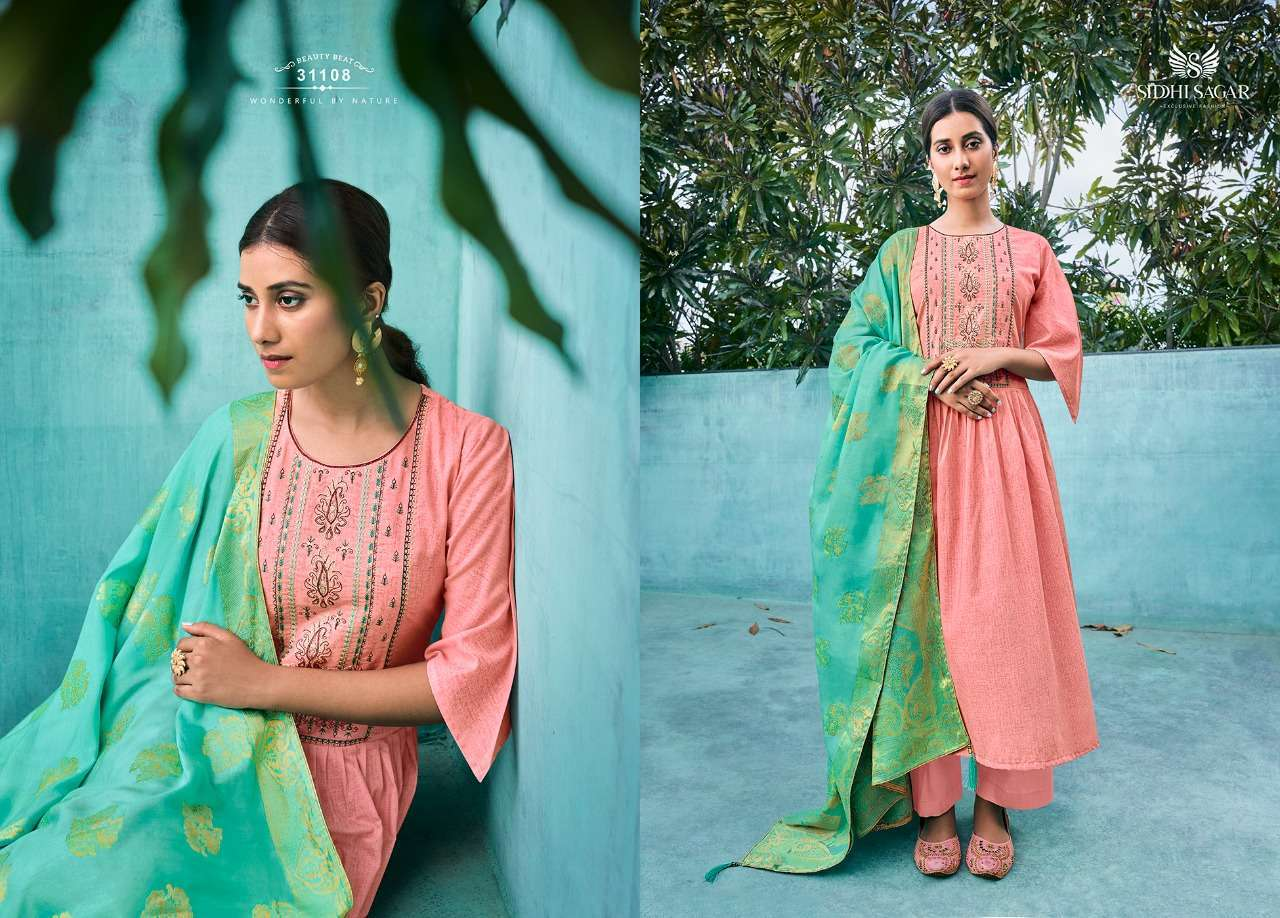 Siddhi Sagar Niramya Pure Cotton With Fancy Embroidery Work Dress Material Collection 07