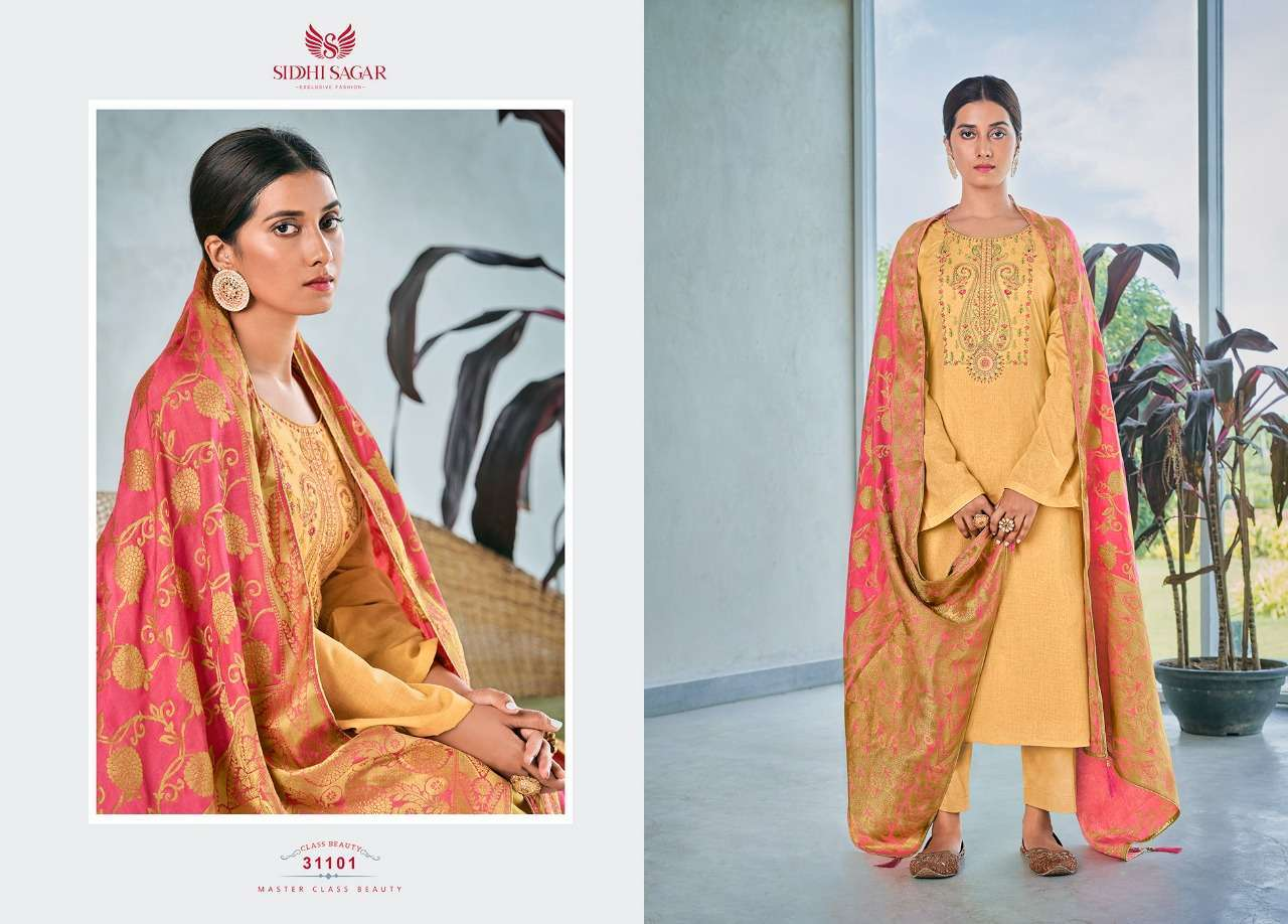 Siddhi Sagar Niramya Pure Cotton With Fancy Embroidery Work Dress Material Collection 08