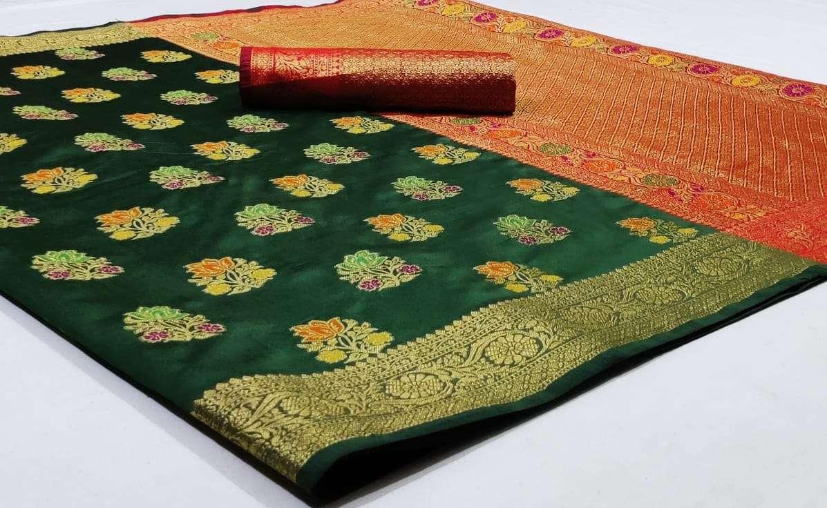 Silk Saree Vol 6 Pure Soft Banarasi Silk Patola Print With Weaving Sarees Collection 01