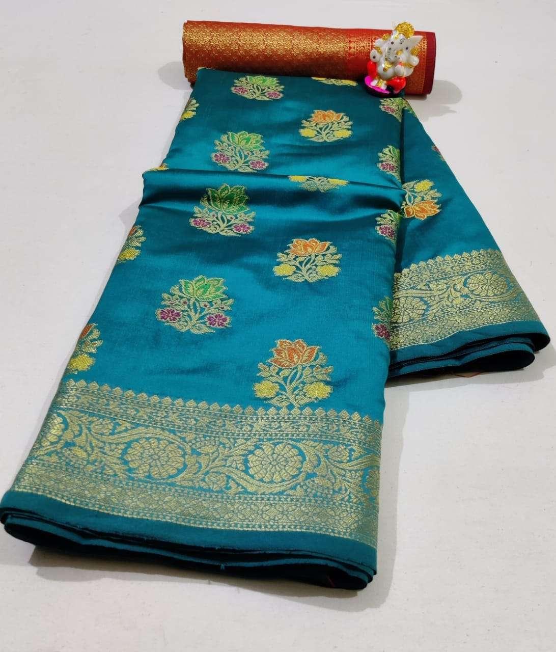 Silk Saree Vol 6 Pure Soft Banarasi Silk Patola Print With Weaving Sarees Collection 05