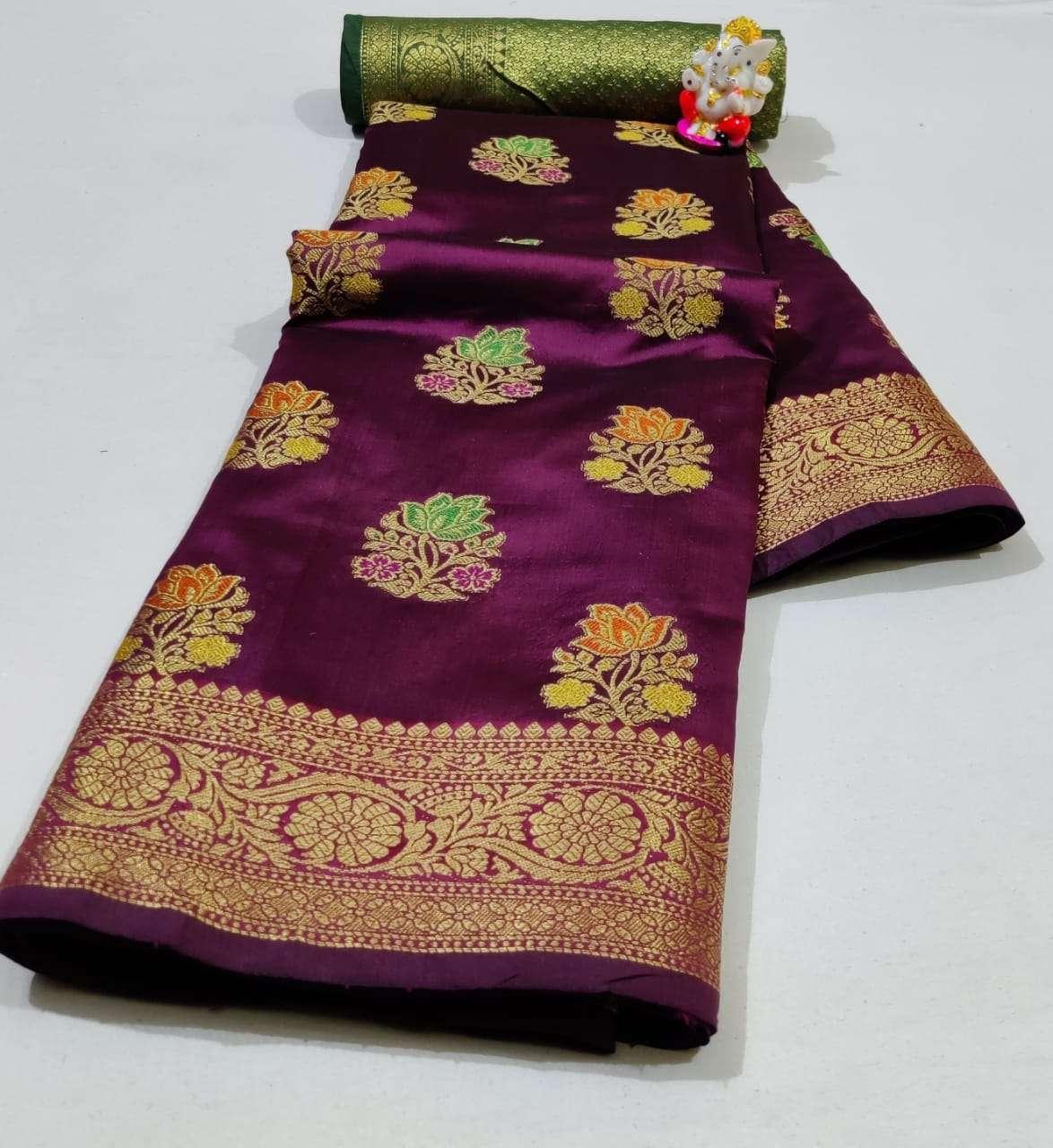 Silk Saree Vol 6 Pure Soft Banarasi Silk Patola Print With Weaving Sarees Collection 07