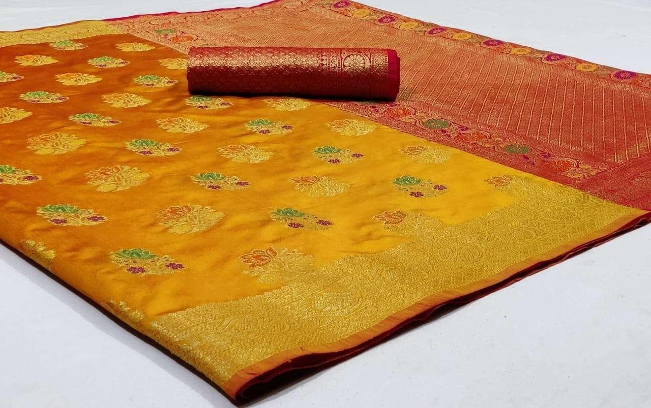 Silk Saree Vol 6 Pure Soft Banarasi Silk Patola Print With Weaving Sarees Collection 08