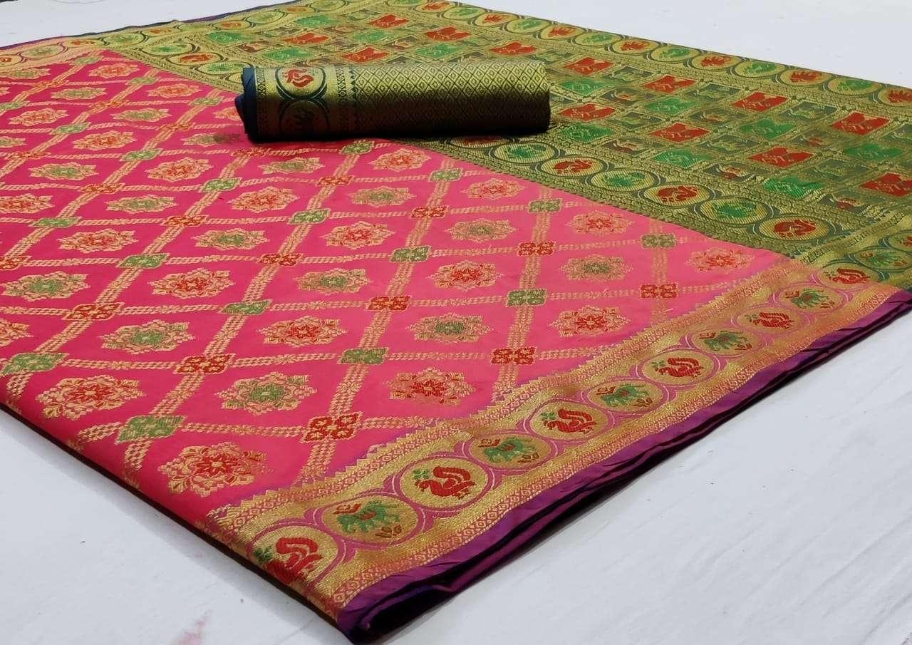 Silk Saree Vol 8 Pure Soft Banarasi Silk Patola Print With Weaving Sarees Collection 01