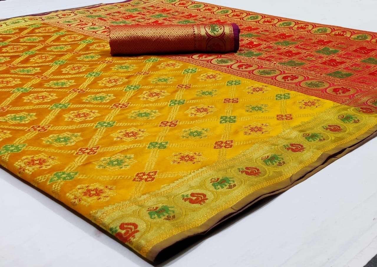 Silk Saree Vol 8 Pure Soft Banarasi Silk Patola Print With Weaving Sarees Collection 02