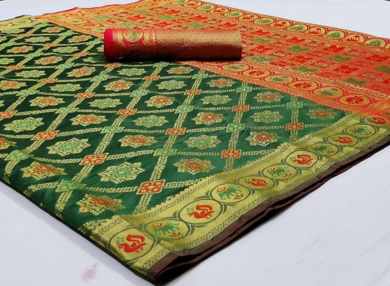 Silk Saree Vol 8 Pure Soft Banarasi Silk Patola Print With Weaving Sarees Collection 04