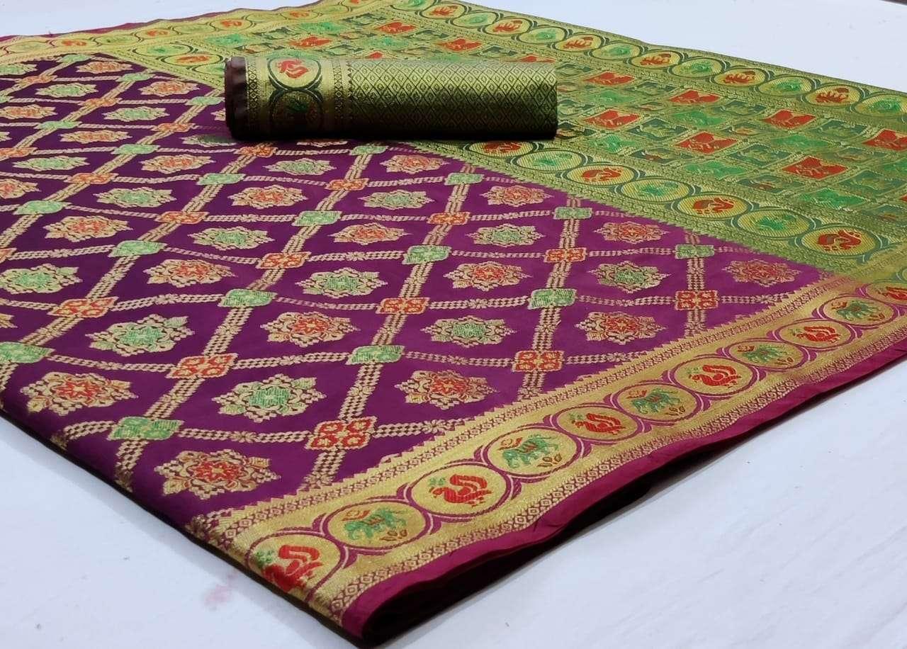 Silk Saree Vol 8 Pure Soft Banarasi Silk Patola Print With Weaving Sarees Collection 06