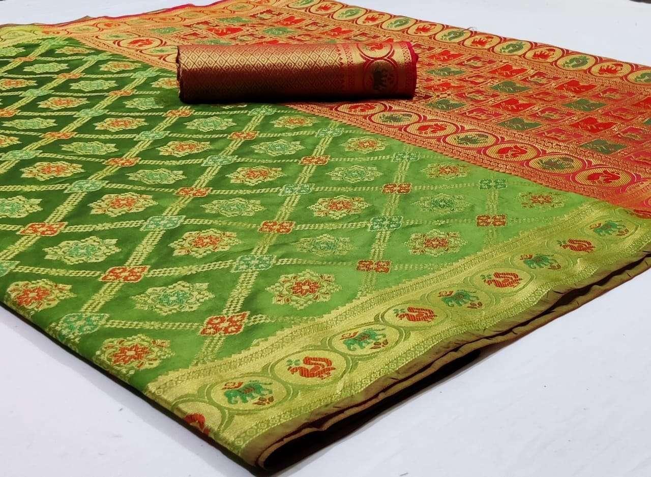 Silk Saree Vol 8 Pure Soft Banarasi Silk Patola Print With Weaving Sarees Collection 07