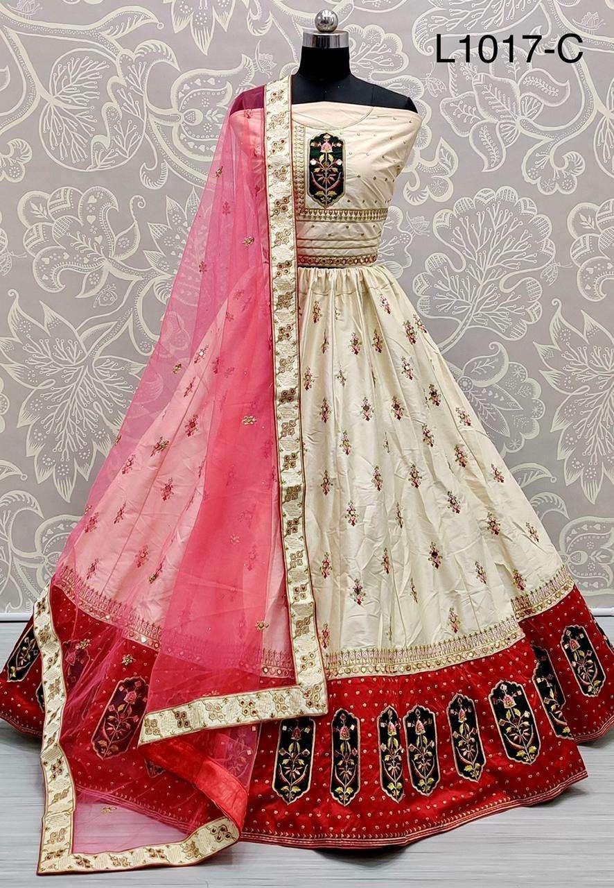 Silk Satin With Zari embroidery Thread work Lehenga Choli