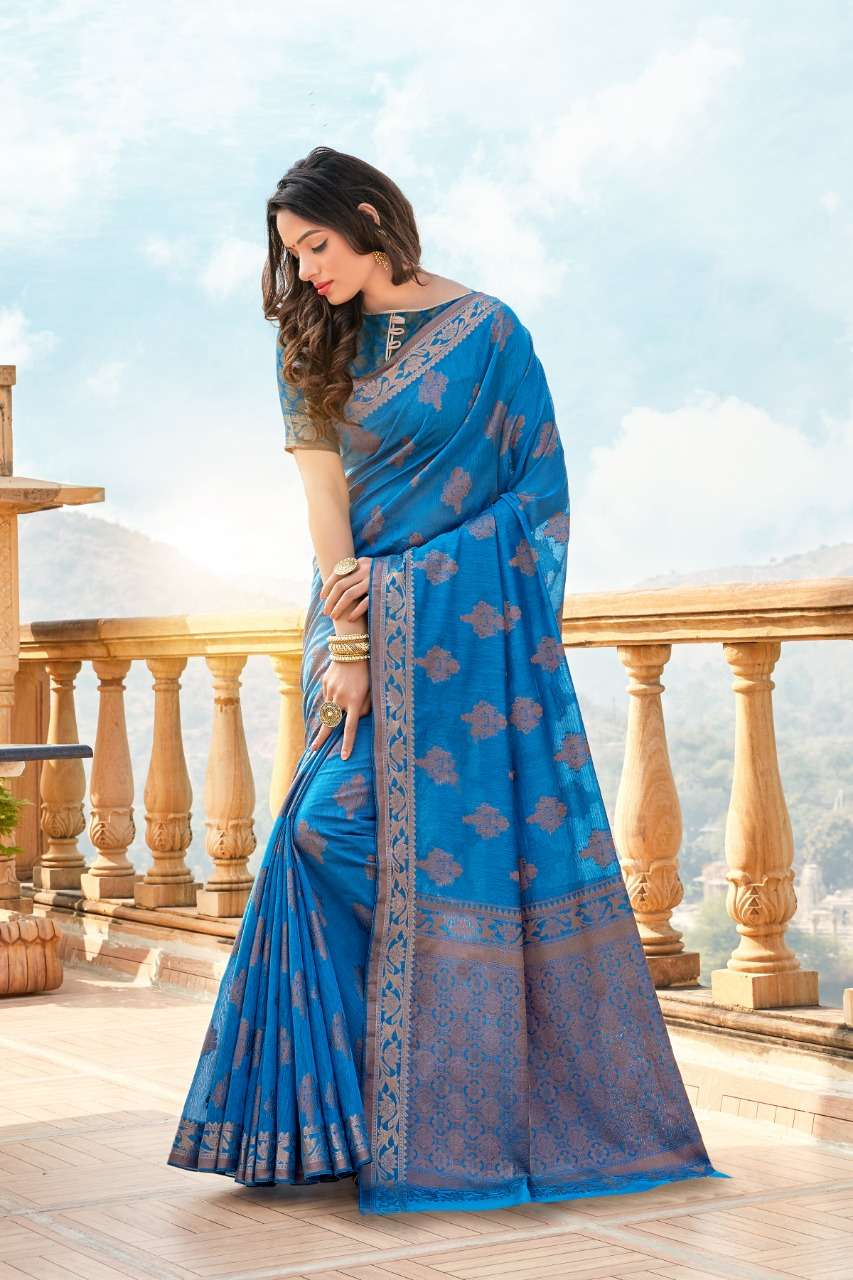 Soft Cotton Weaving PARTY WEAR SAREE COLLECTION 04
