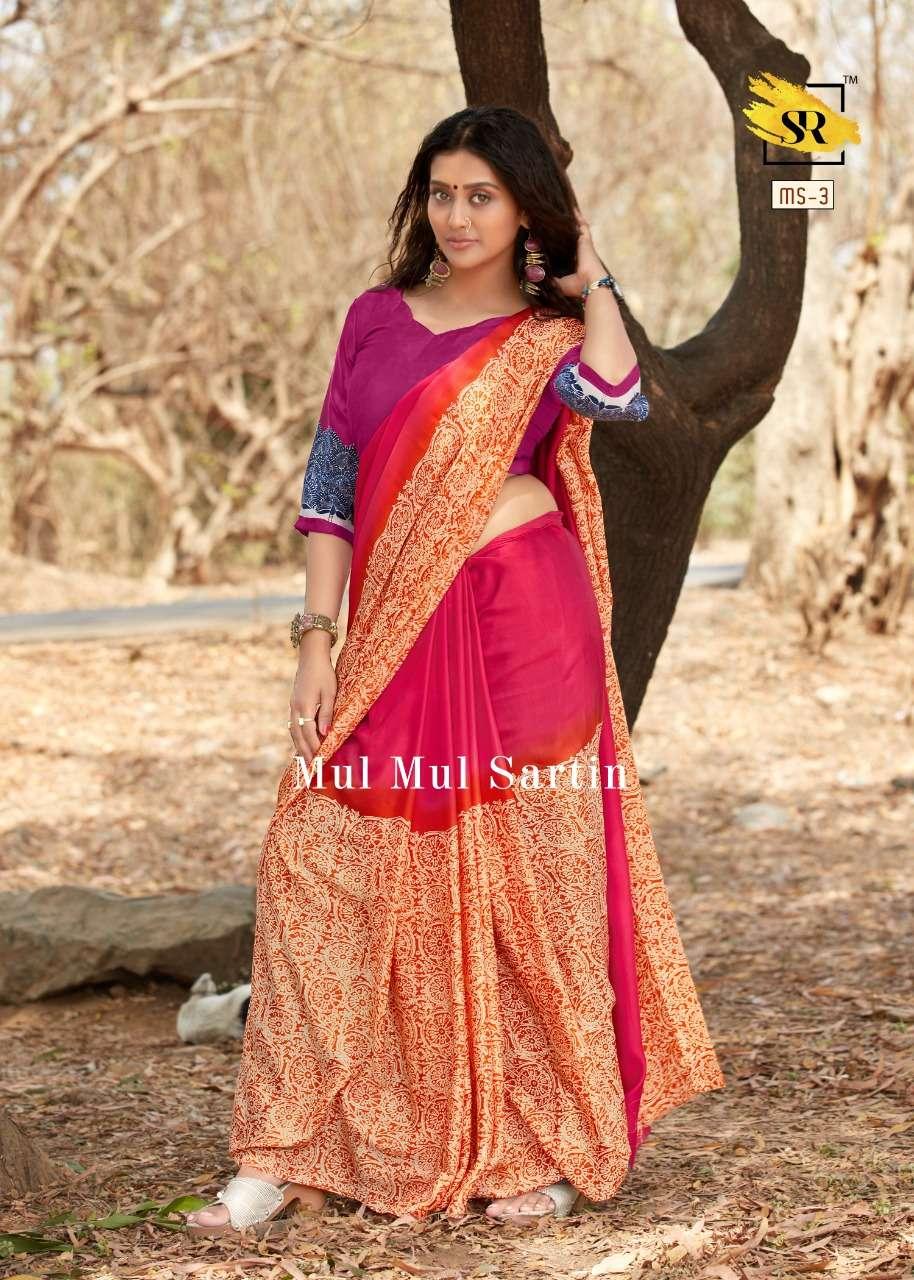 Soft mul mul Sattin silk REGULAR WEAR SAREE COLLECTION 07