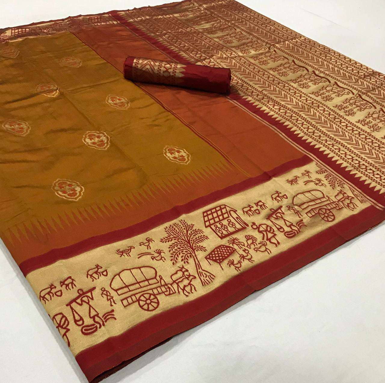 soft silk with Weaving Butta With Weaving Border saree collection  02