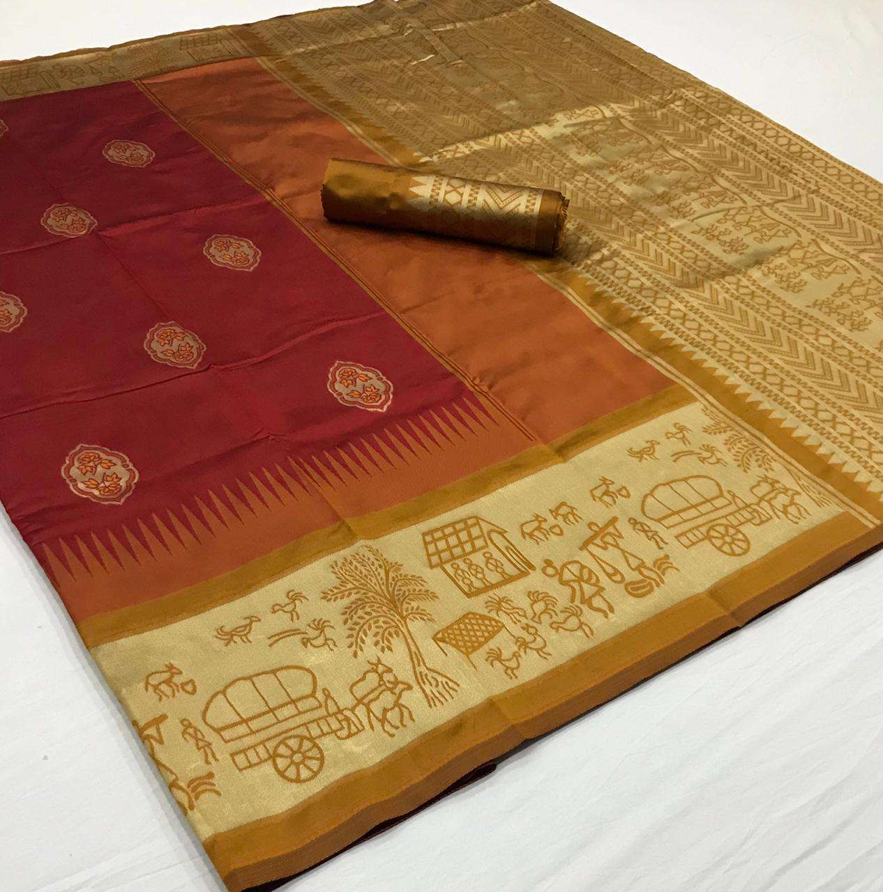soft silk with Weaving Butta With Weaving Border saree collection  07