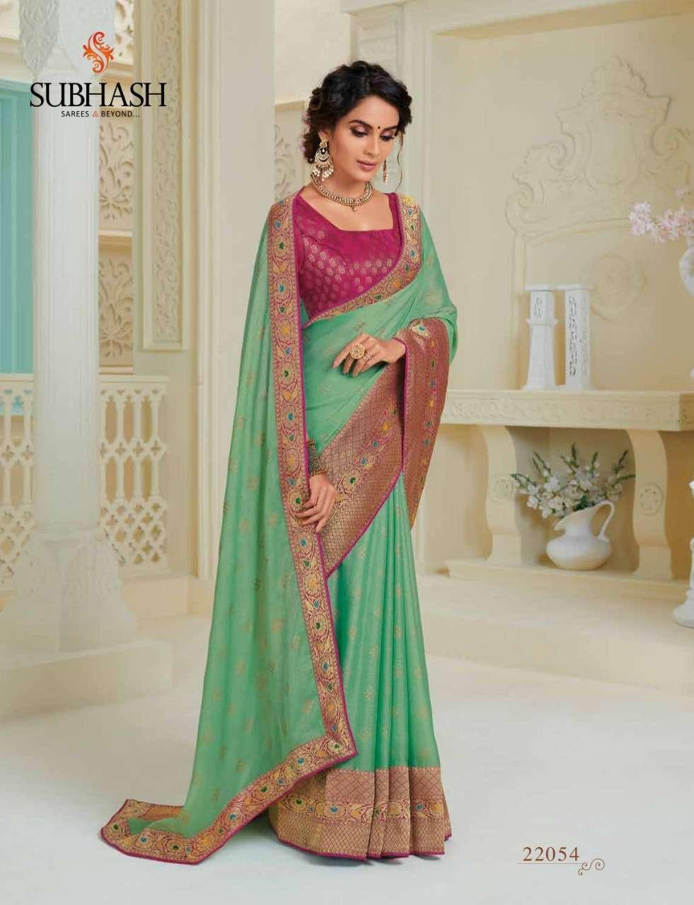 Subhash Manjri Fancy Designer Party Wear Sarees Collection 04