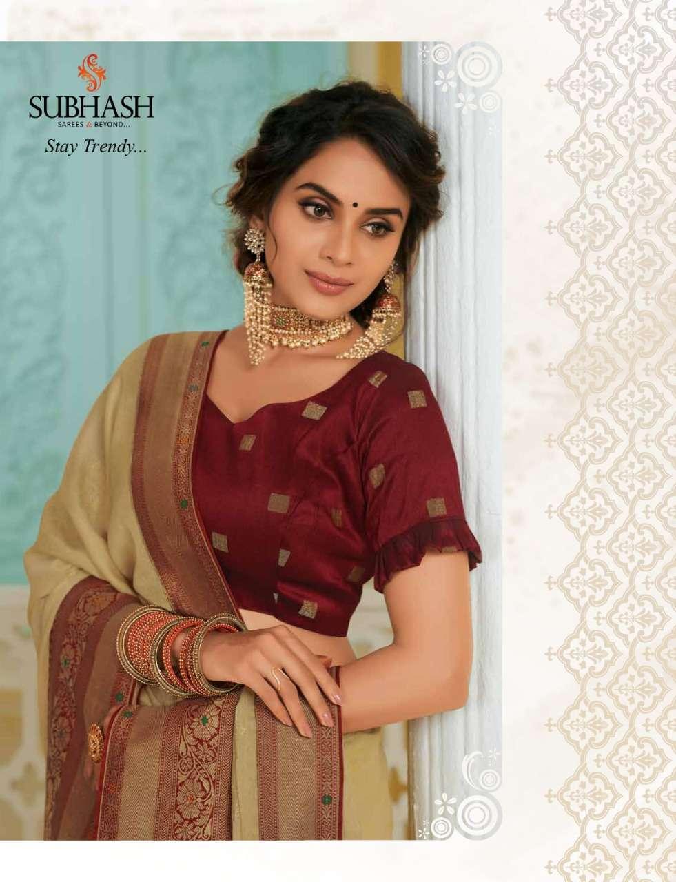 Subhash Manjri Fancy Designer Party Wear Sarees Collection 06