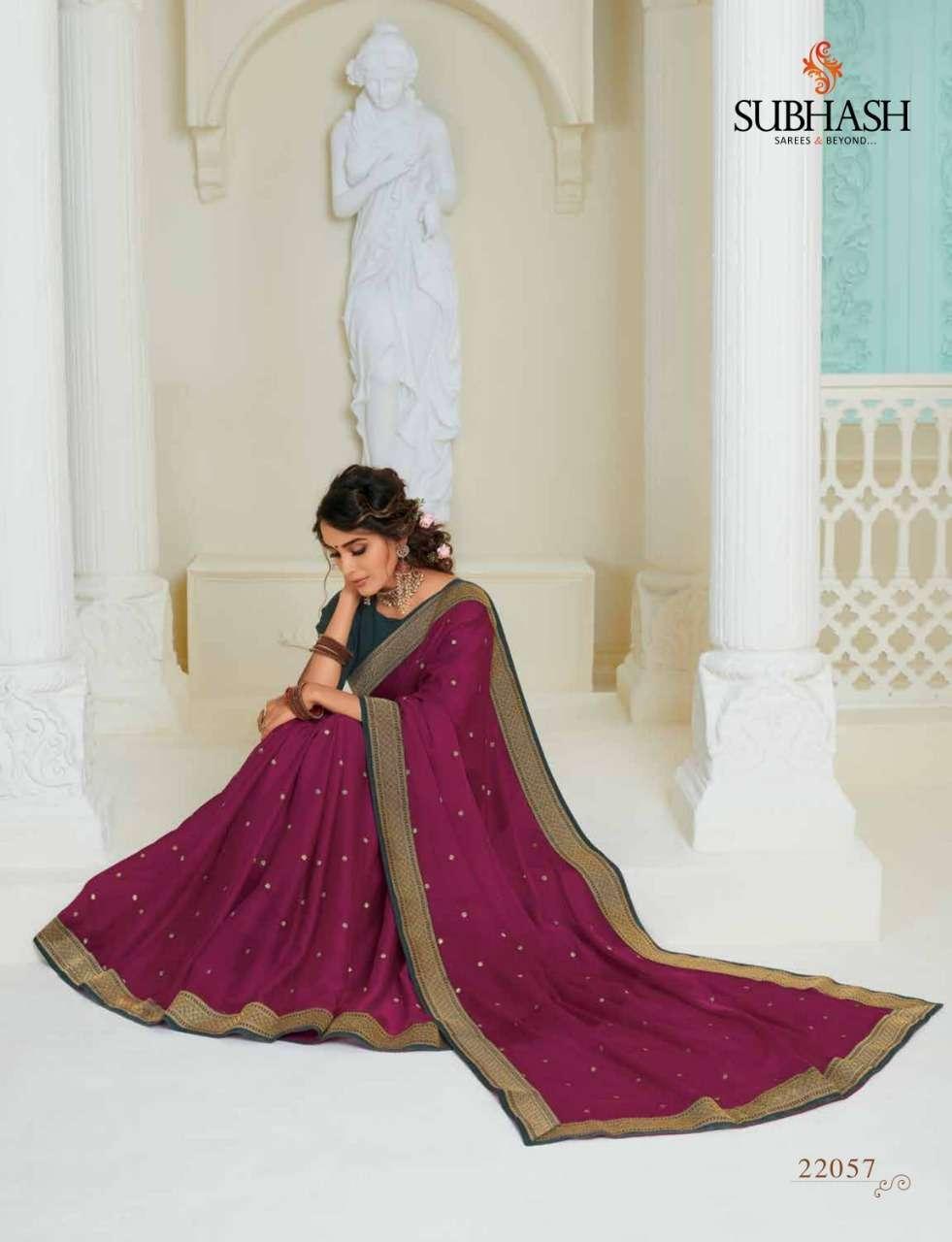 Subhash Manjri Fancy Designer Party Wear Sarees Collection 07