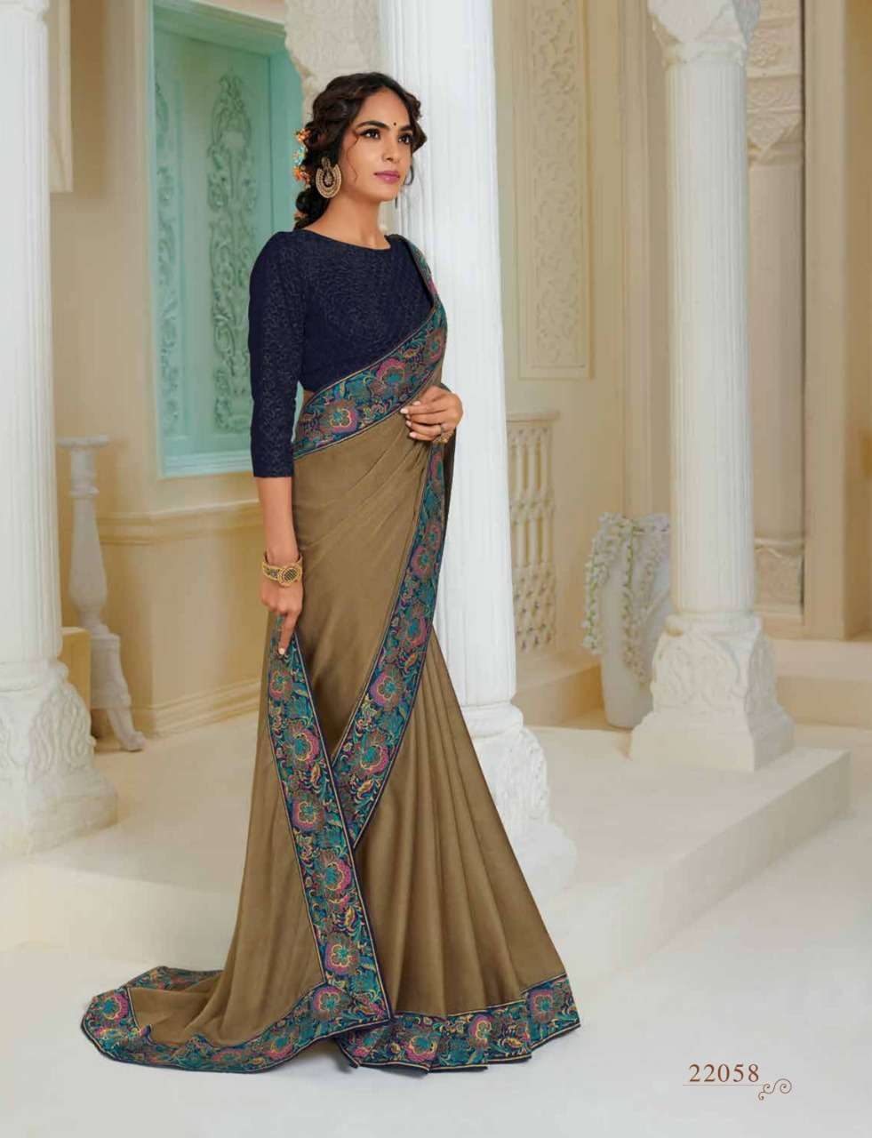 Subhash Manjri Fancy Designer Party Wear Sarees Collection 08