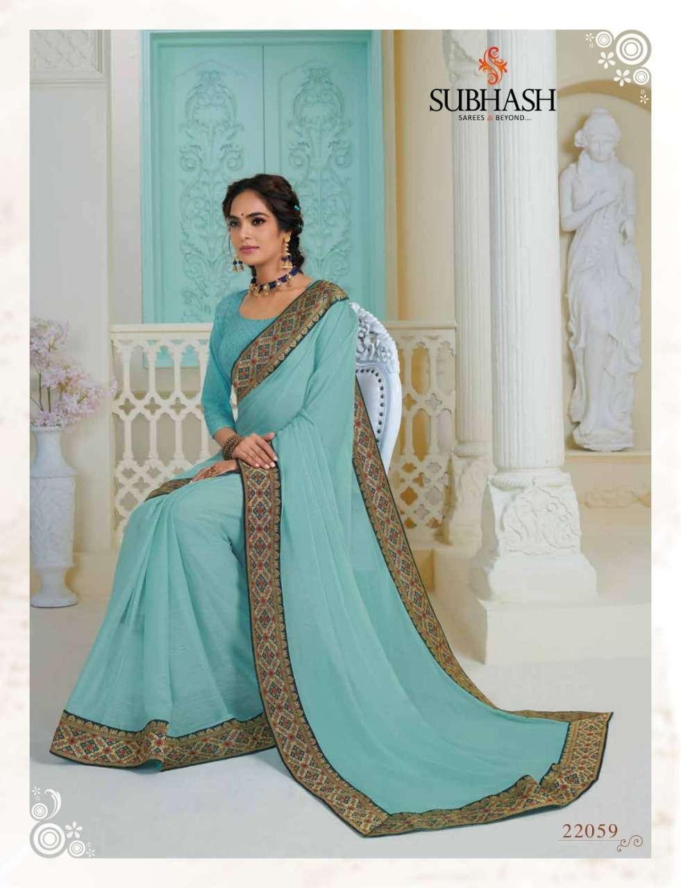Subhash Manjri Fancy Designer Party Wear Sarees Collection 09