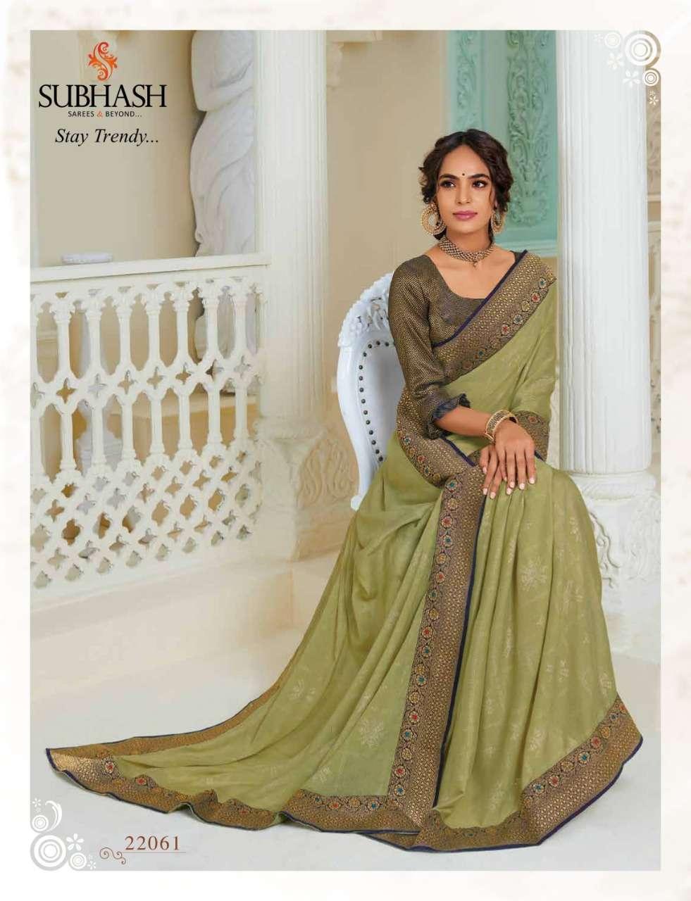 Subhash Manjri Fancy Designer Party Wear Sarees Collection 11