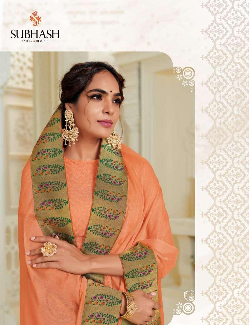 Subhash Manjri Fancy Designer Party Wear Sarees Collection