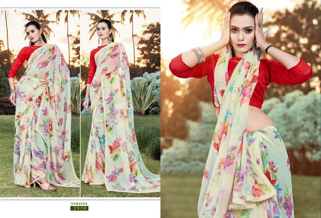 Tamanna georgette with printed regular wear saree collection 09