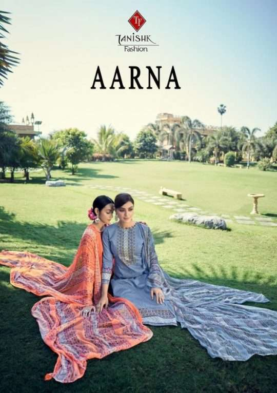 Tanishk Fashion Aarna Pure lawn cambric Printed Dress Material collection