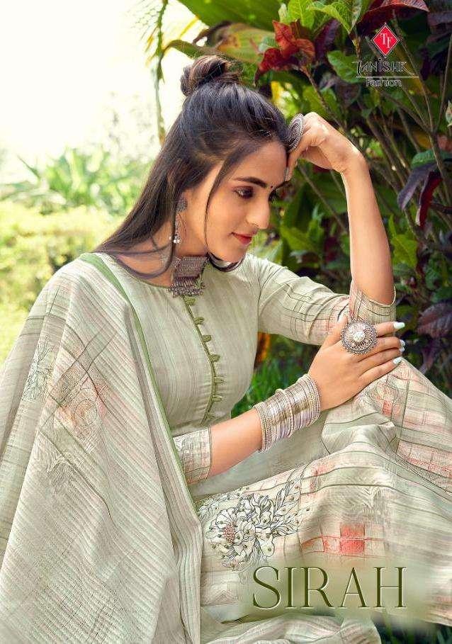 Tanishk fashion Sirah Pure Muslin Digital Print With Hand Khatli work Dress Material collection