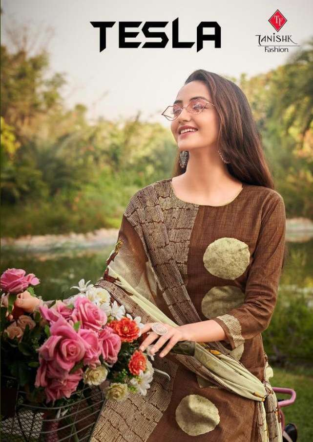 Tanishk Fashion Tesla Pure Lawn Cambric Cotton Dress Material Collection