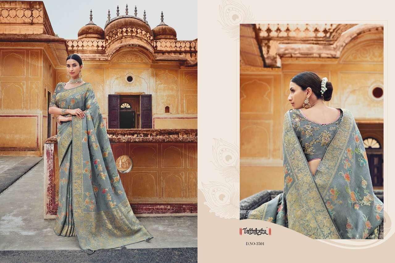 Tathastu 3500 Series Heavy Designer Silk Traditional Wedding Sarees Collection 01