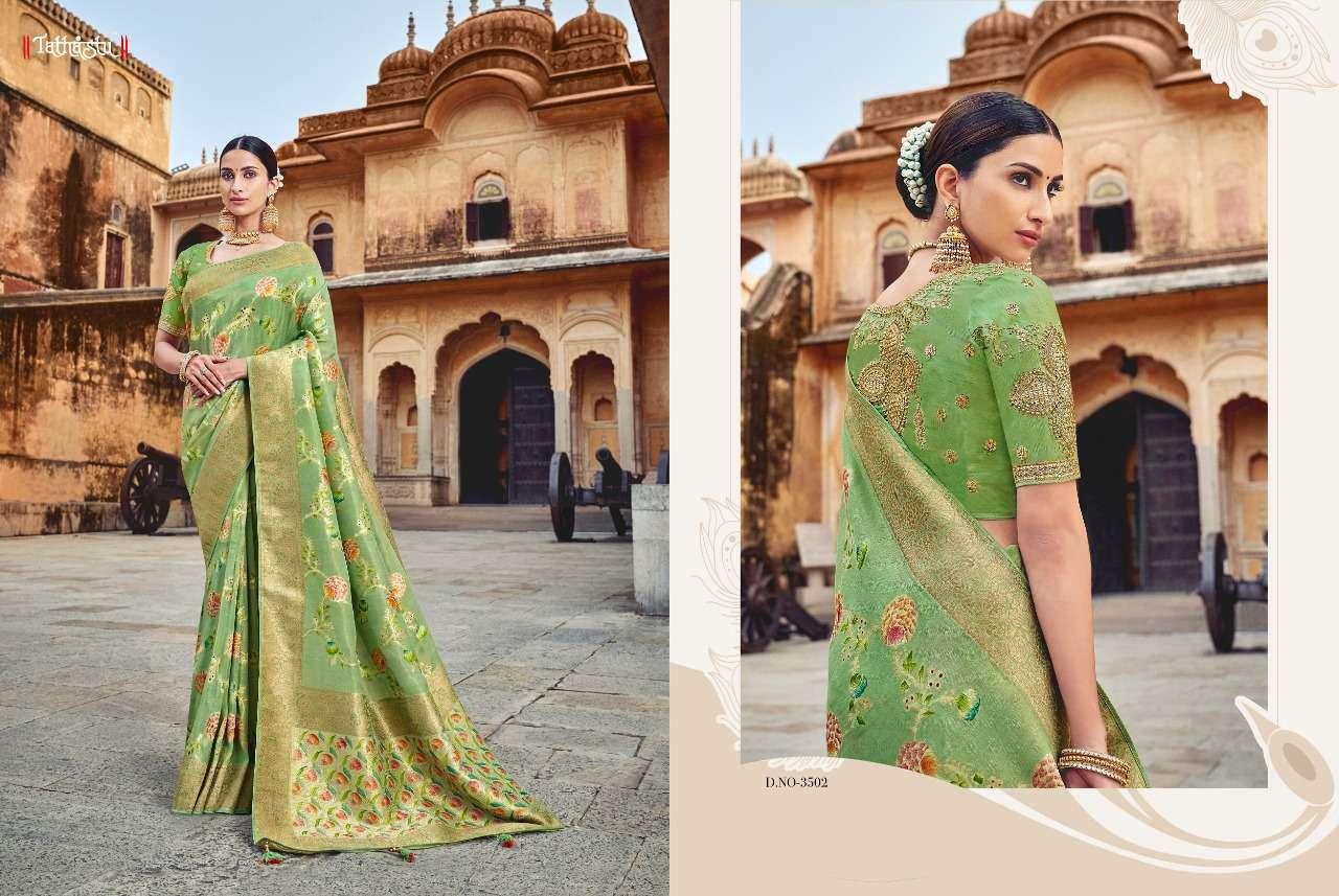 Tathastu 3500 Series Heavy Designer Silk Traditional Wedding Sarees Collection 02