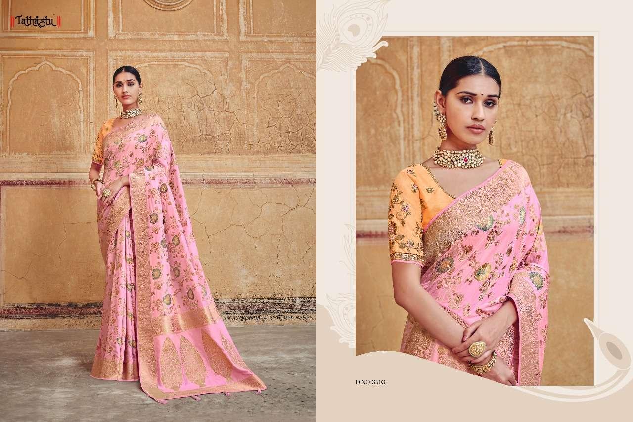 Tathastu 3500 Series Heavy Designer Silk Traditional Wedding Sarees Collection 03
