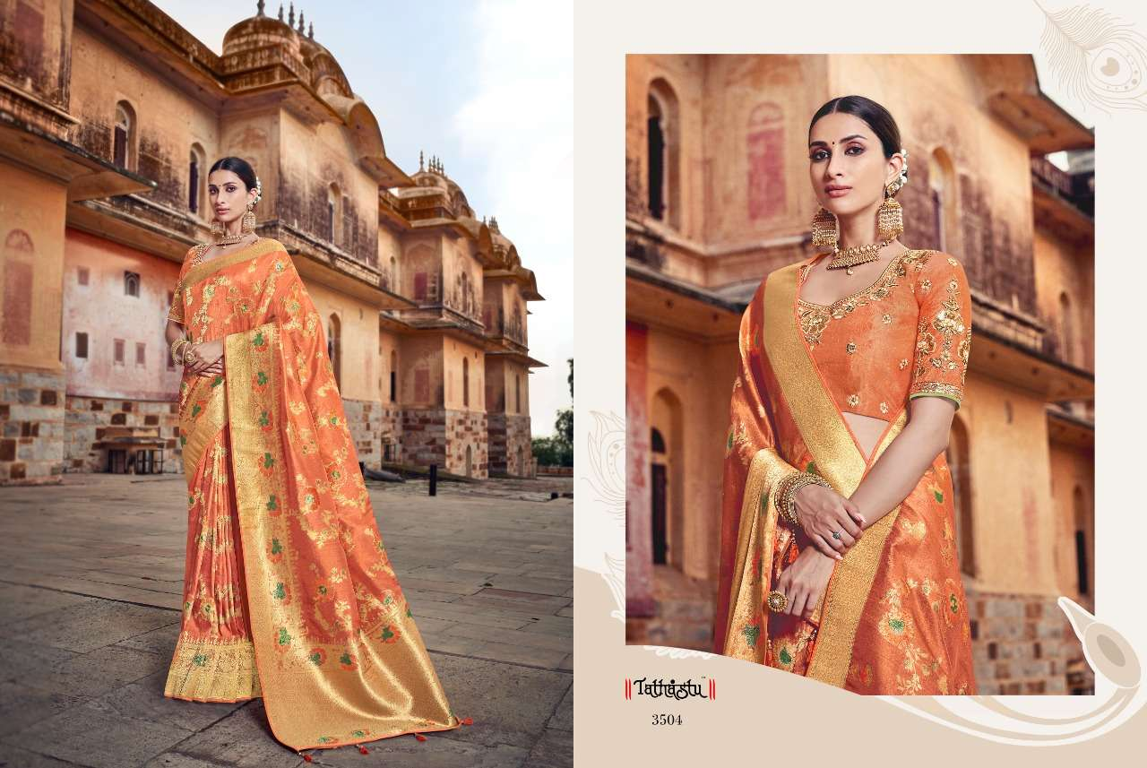 Tathastu 3500 Series Heavy Designer Silk Traditional Wedding Sarees Collection 04