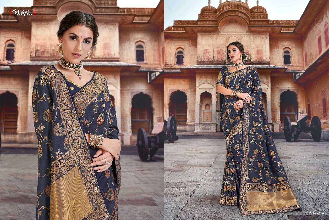 Tathastu 3500 Series Heavy Designer Silk Traditional Wedding Sarees Collection 05