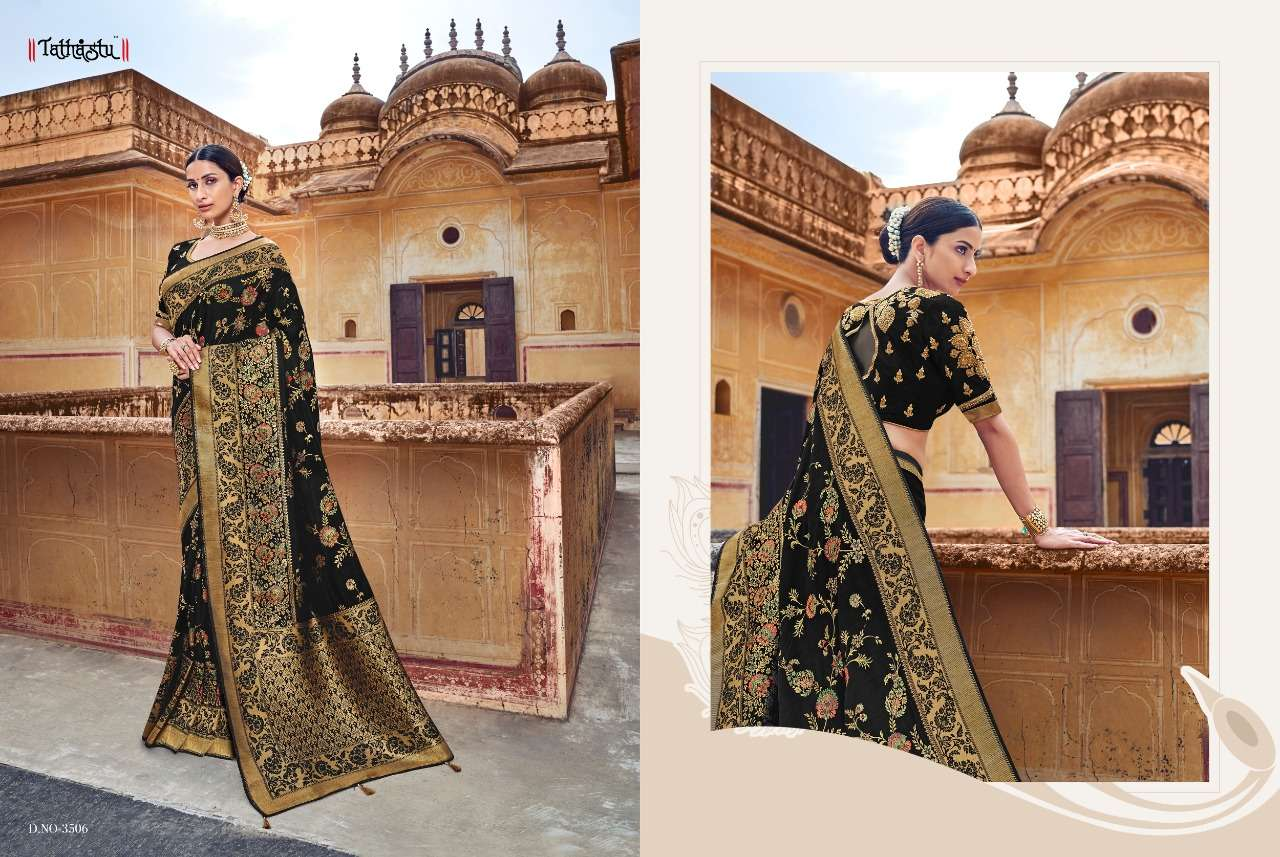 Tathastu 3500 Series Heavy Designer Silk Traditional Wedding Sarees Collection 06