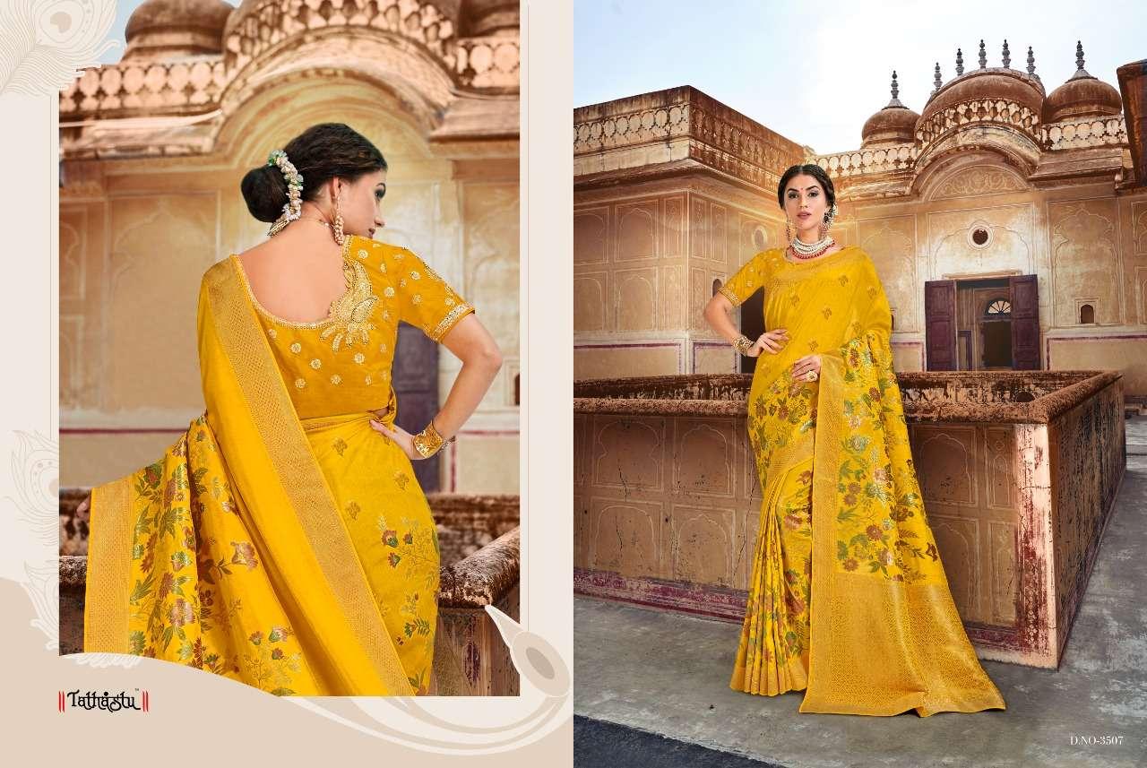 Tathastu 3500 Series Heavy Designer Silk Traditional Wedding Sarees Collection 07