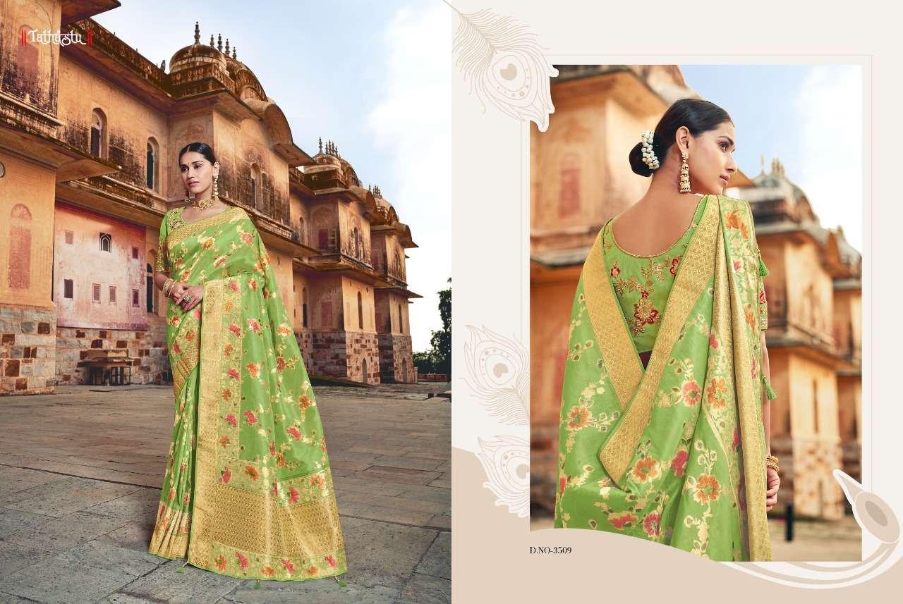 Tathastu 3500 Series Heavy Designer Silk Traditional Wedding Sarees Collection 09