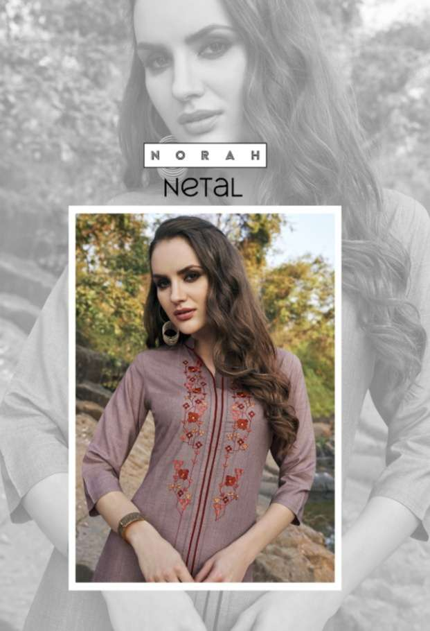 TUNIC HOUSE NETAL COTTON FABRIC WITH HEAVY EMBROIDERY WORK KURTIS COLLECTION
