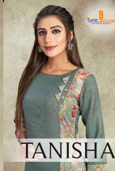 Tunic House Tanisha slub cotton with Print regular Wear Kurtis Collection