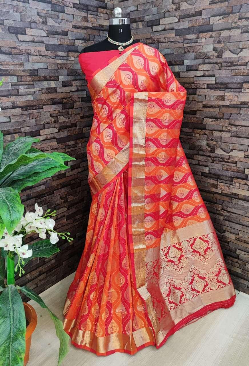 v Kiyara Banarasi silk party wear saree collection 04