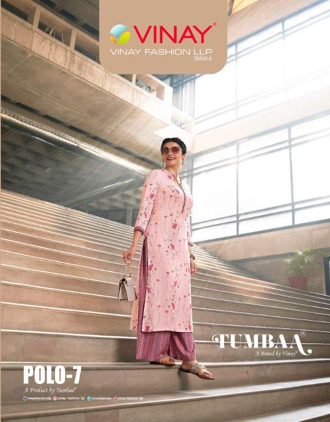 Vinay fashion Tumbaa Polo Vol 7 Rayon Printed Kurti With Plazzo Collection