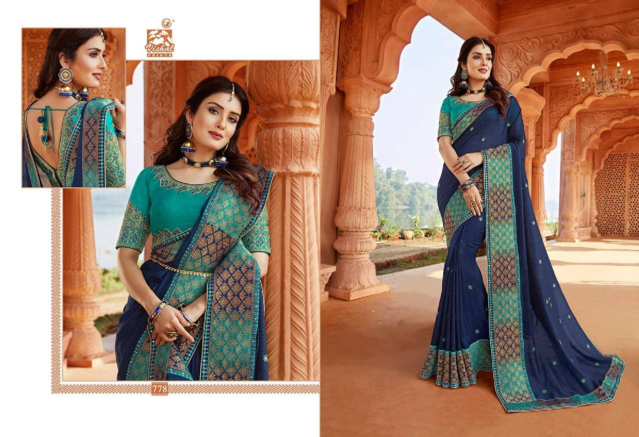 VISHAL GRANDOISE VOL - 3 designer saree collection 05