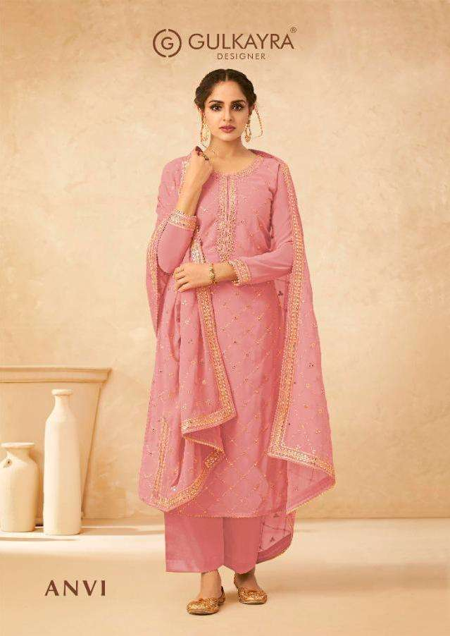 Aashirwad Creation Gulkayra Anvi Real Georgette With Work Dress Material Collection