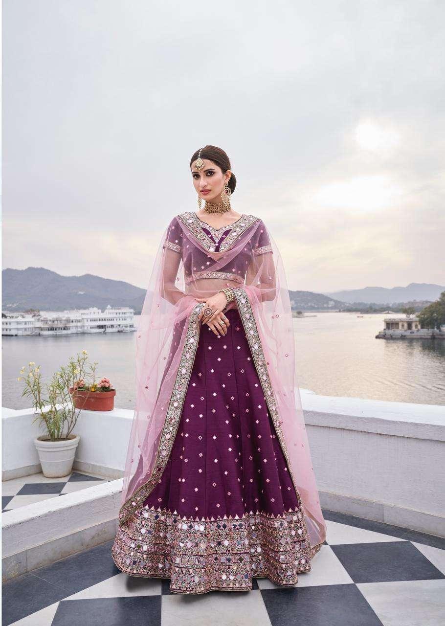 Alizeh Mirror Maze Colour Edition Heavy Silk With Zari Embroidery Work Designer Wedding Wear Bridal Lehenga Choli Collection  05