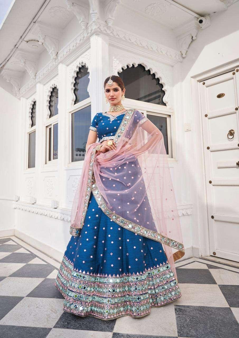 Alizeh Mirror Maze Colour Edition Heavy Silk With Zari Embroidery Work Designer Wedding Wear Bridal Lehenga Choli Collection  1013-C