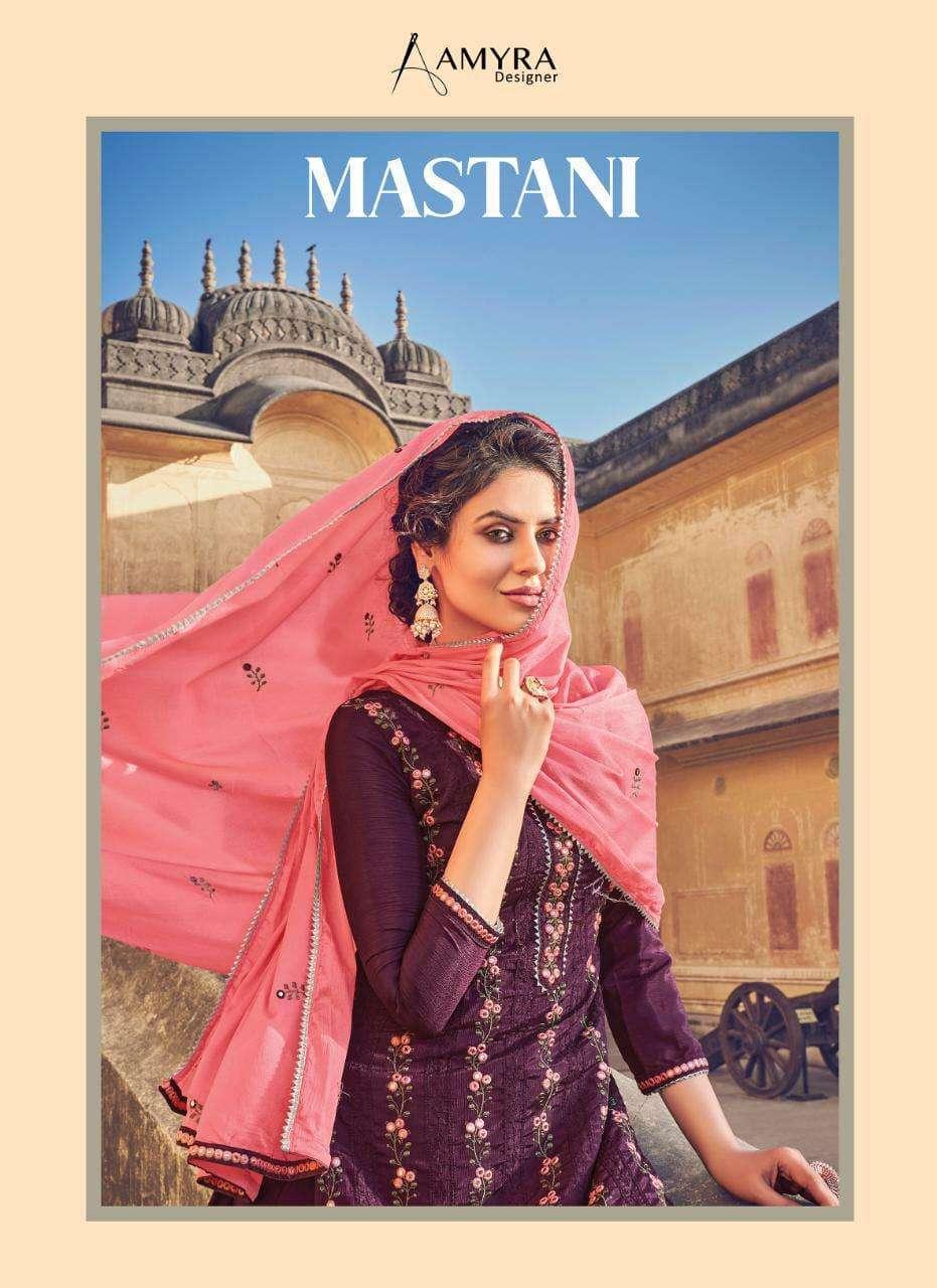 Amyra Designer Mastani Chinon With Embroidery Work Salwar Kameez Collection