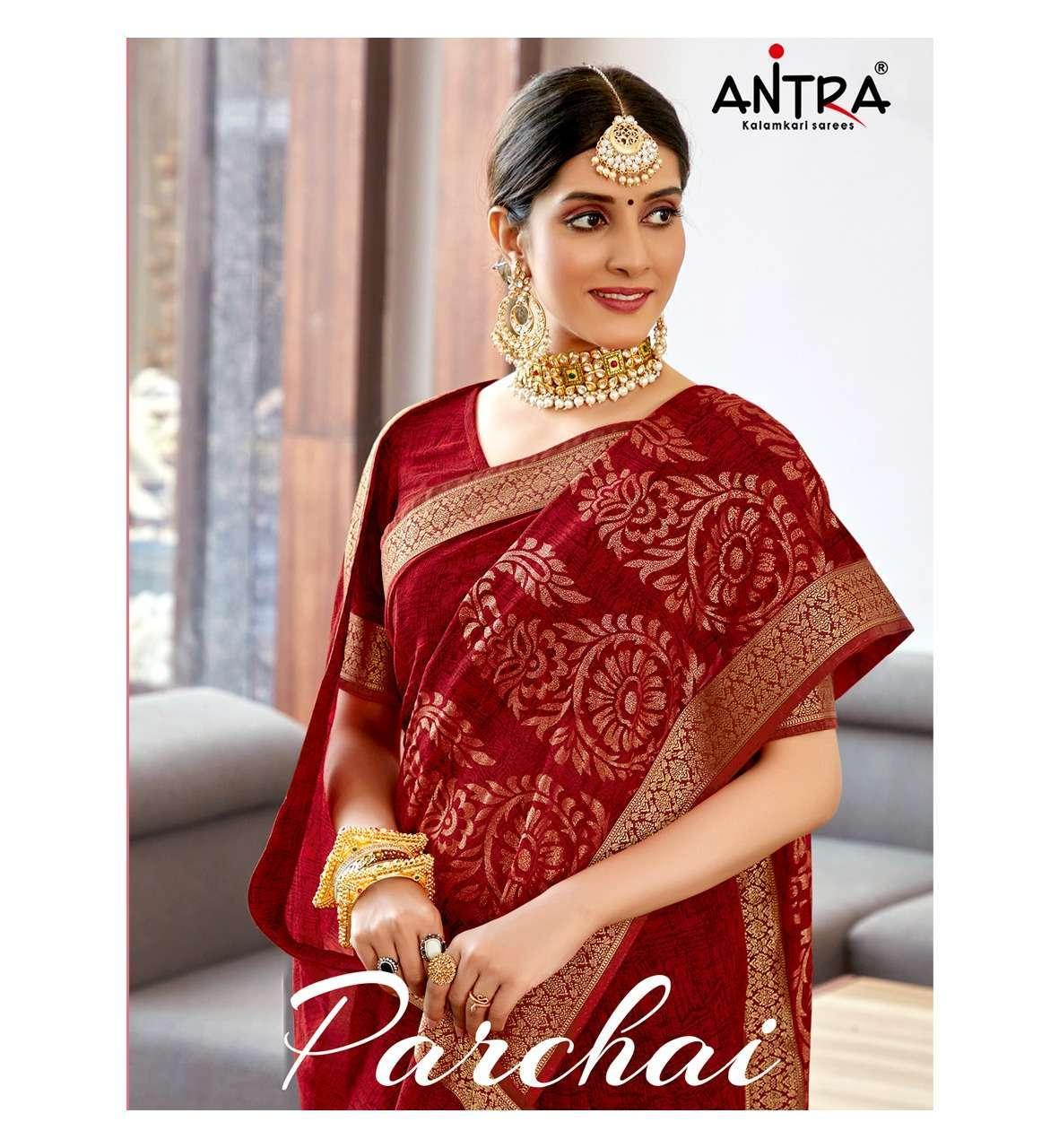 Antra parchai Georgette with Foil Print Sarees Collection
