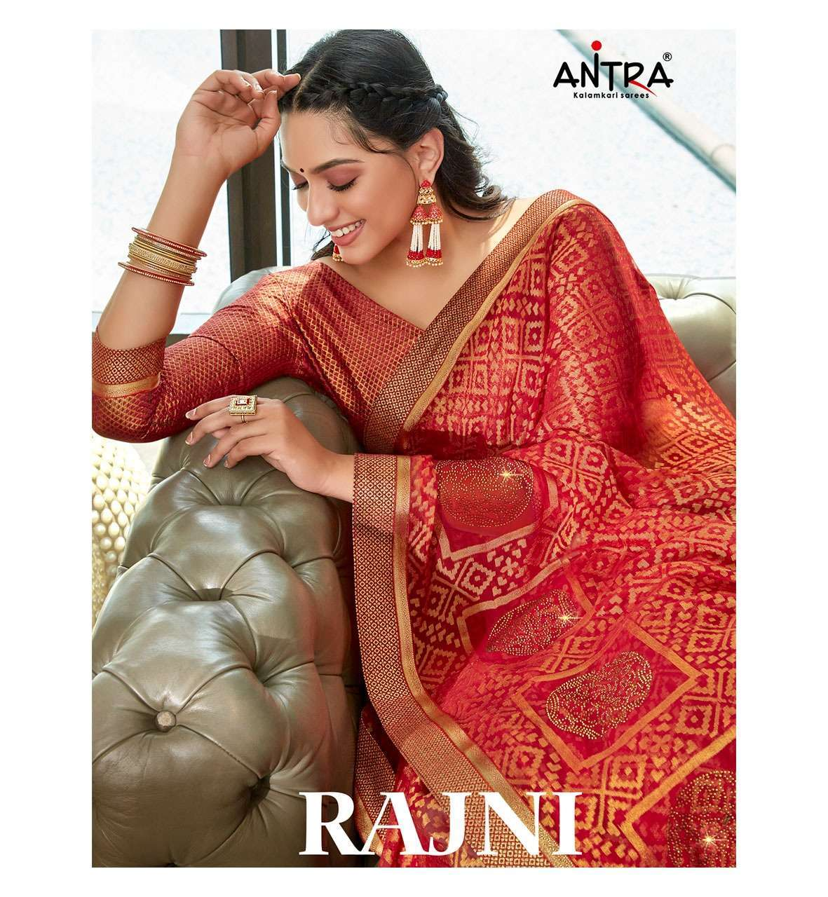 Antra Rajni Fancy printed Brasso Sarees Collection