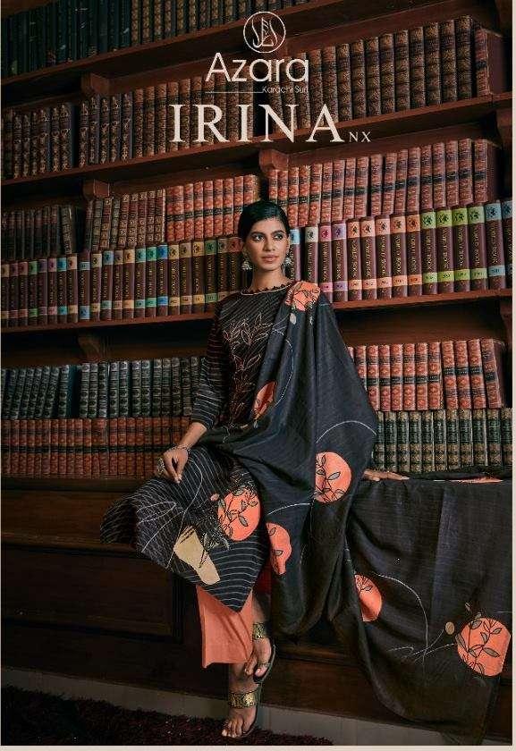 Azara Irina NX Jam cotton Print with Diamond Work Dress Material Collection
