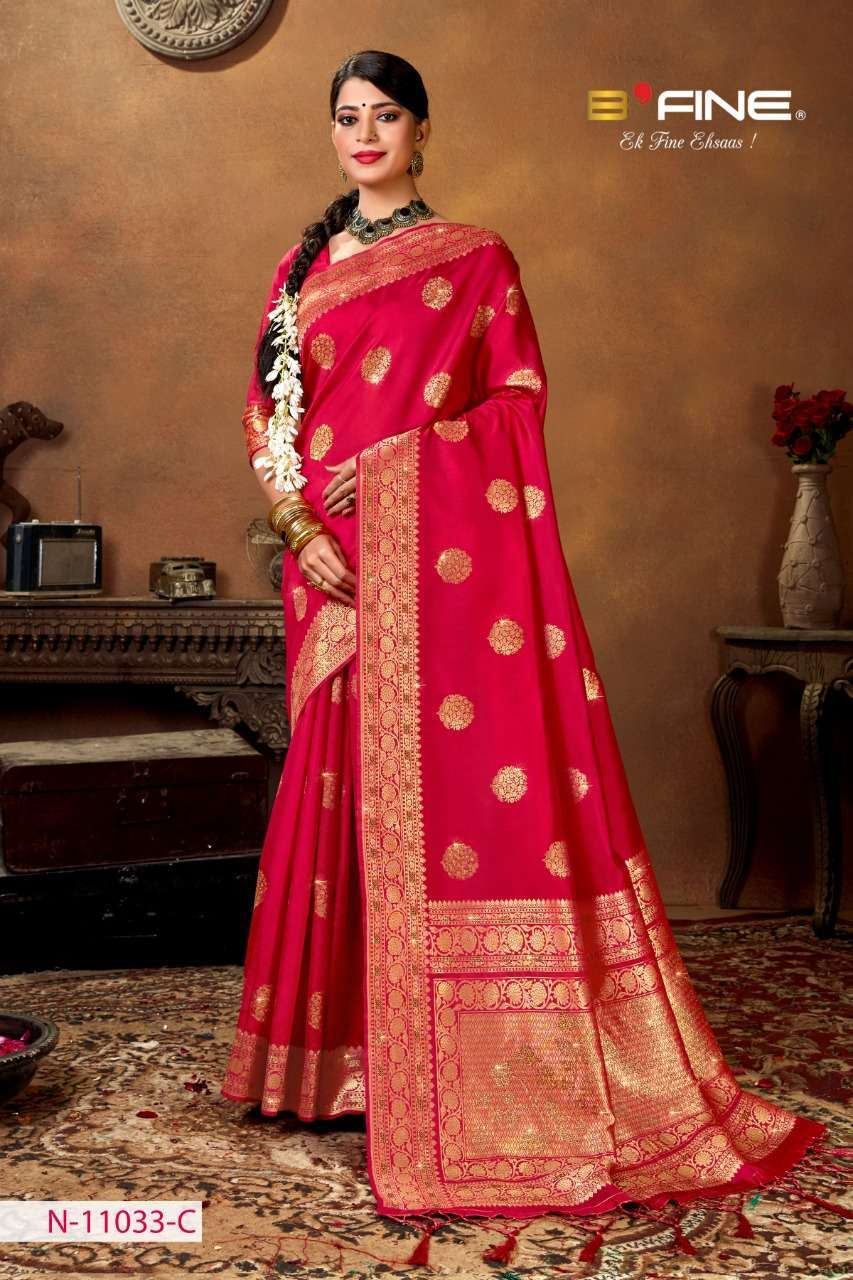 B Fine Aakruti Soft Silk Designer Traditional Sarees Collection 02